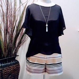 Flattering vibrant stripe cotton shorts 💕